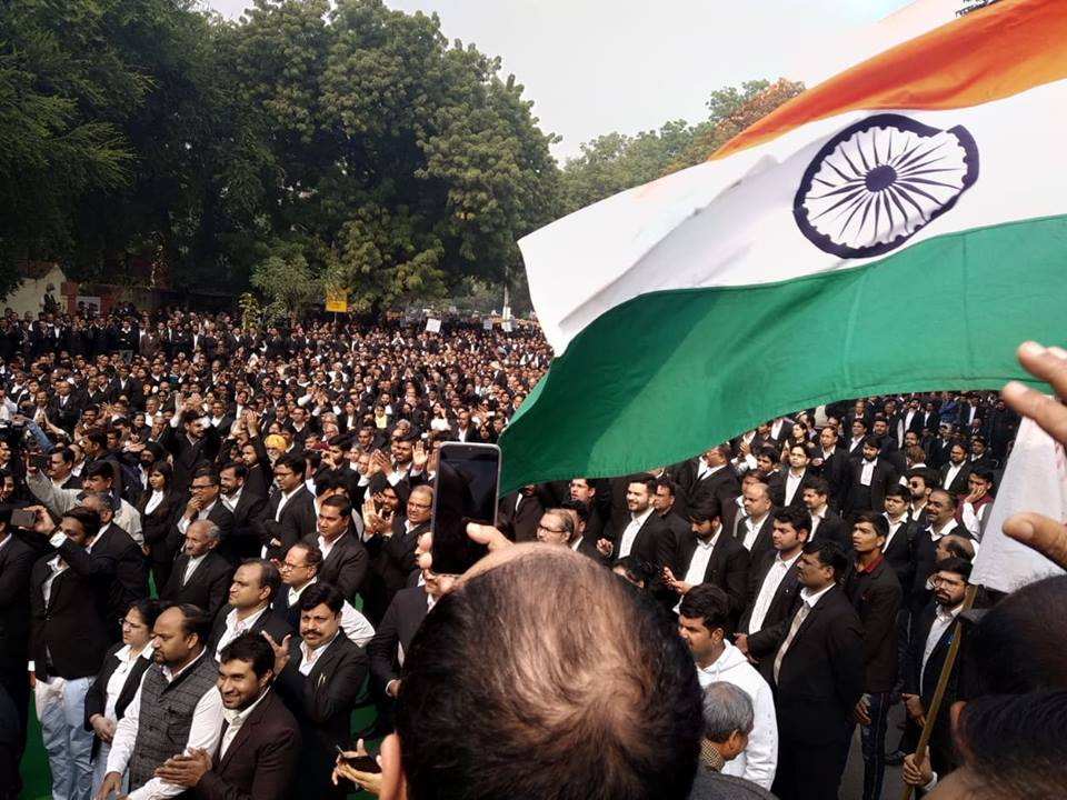 lawer protest in delhi