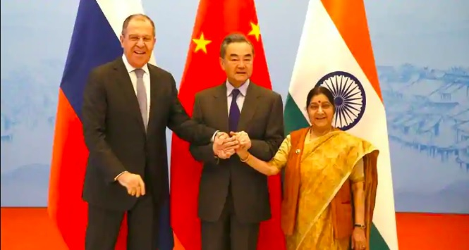 India, Russia and China