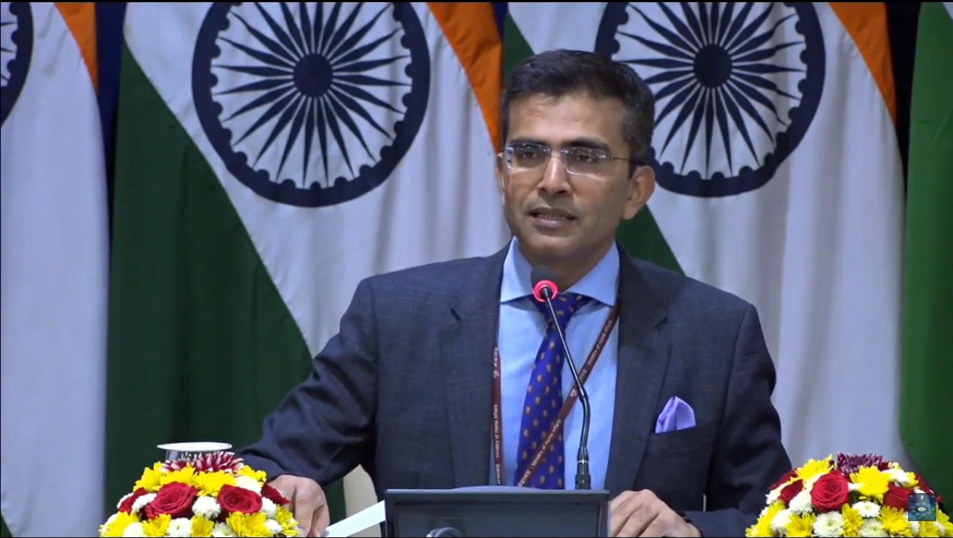 Ministry of External Affairs Spokesperson Raveesh Kumar