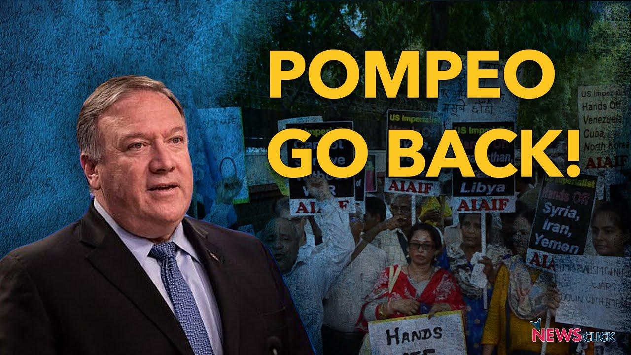 India Protests Against Pompeo Visit