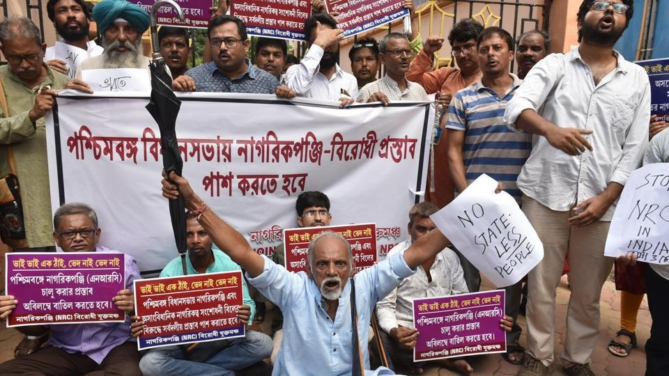 protest against NRC