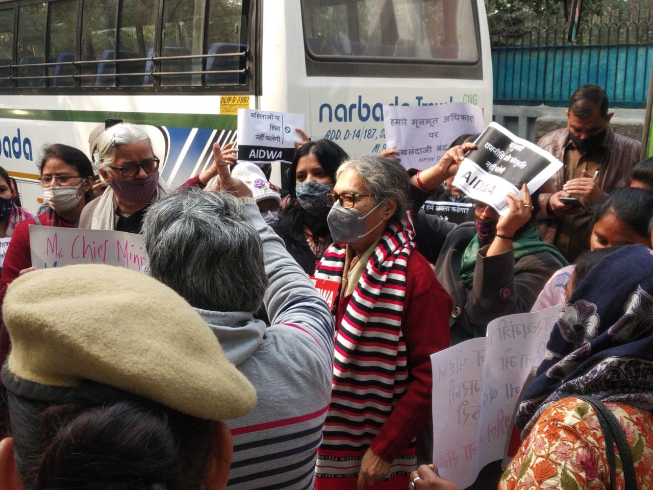 /Demonstration-of-women-at-MP-Bhavan-said-that-surveillance-in-the-name-of-security-is-not-acceptable