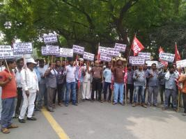 protest against new motor act