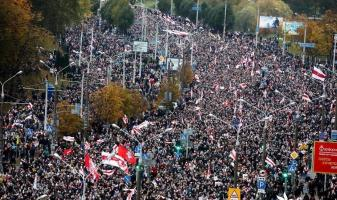Massive protests in Minsk after lull of few weeks