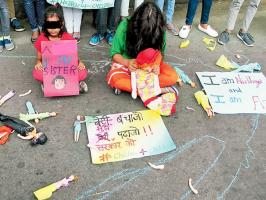 Child abuse protest